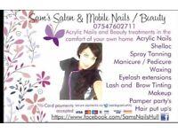 Beauty , acrylic nails , eyelash extensions