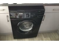 washing machine in black