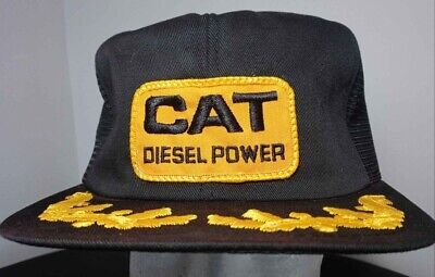 Vintage K-BRAND Trucker Hat, CAT Diesel Power, Large Patch, Made in USA