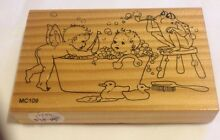 Various wood mounted rubber stamps Doveton Casey Area Preview