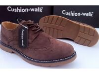 Brown Suede Brogue shoes size 7