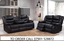 Super christmas Bonded leather recliner sofa suite sale now on