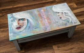 Hand Painted Coffee Table bk JK Artwork