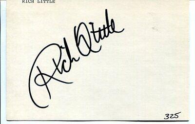 RICH LITTLE signed AUTOGRAPH 3398