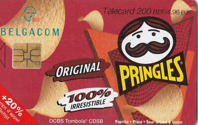 L2 ) telecarte  200 francs pringles original  (snack pringles 50 gr )
