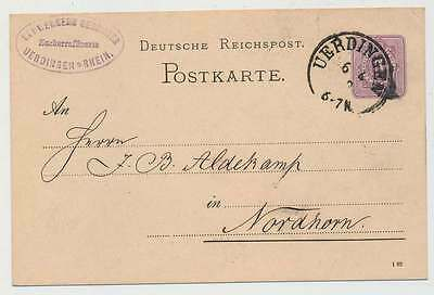 D.Reich nachv. Preußen-K2 UERDINGEN 6.4.82 auf 5 Pfg. GSK n. NORDHORN (23115)