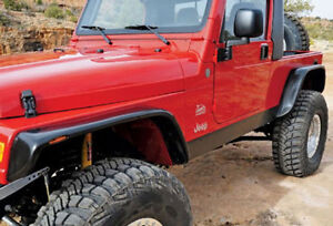 97 06 jeep wrangler tj xenon 6 urethane flat panel fender flares 4pc kit 9070. Black Bedroom Furniture Sets. Home Design Ideas