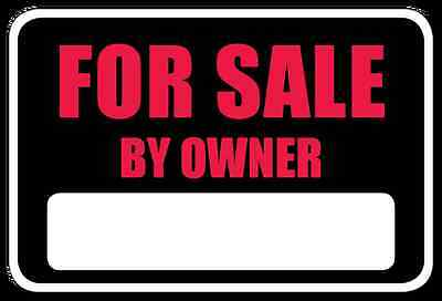 For Sale By Owner Bumper Sticker Decal White Matte High Grade Vinyl