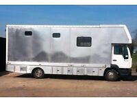 7.5 tonne MAN 2003 Horsebox, low mileage, excellent runner possibe swap for mobile home