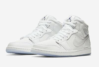 5cd57b8caf7e20 Nike MEN S Air Jordan 1 Mid White Concord WHITE ICE SIZE 12 BRAND NEW AJ1