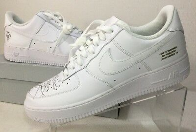 Nike Rare John Geiger Air Force 1 Low 315122 111 Pittsburg '16 White Men's 10