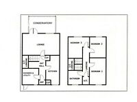 3 bedroom off the hallway mid terrace on Silver Road