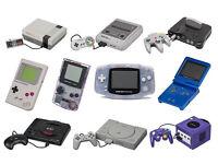 WANTED RETRO COMPUTER GAMES & CONSOLES , NINTENDO , SEGA , SNES , NES , N64 , GAMECUBE , , PS1