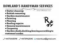 Handyman/property maintenance/carpentry/gardening services in West Midlands
