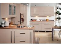 Complete Cream Gloss Kitchen For Sale