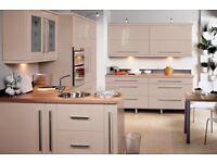 Cream Gloss modern finish kitchen.... £995