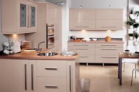 Cream Gloss Kitchen For Sale Complete For Only £895