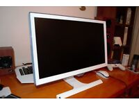 2x Samsung 22in monitors 1080p 4ms - WHITE