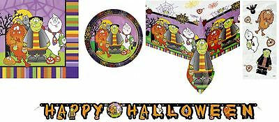 ween Party Set Tableware Kid Birthday Decor Lunch Dinner Fun (Halloween-party-set)