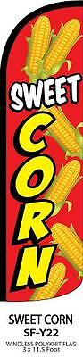 Sweet Corn King Size Windless Polyester Swooper Flag