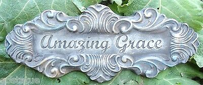 Abs Plastic Cement - NEW cement plaster plaque ABS plastic mold scrolled amazing grace mould