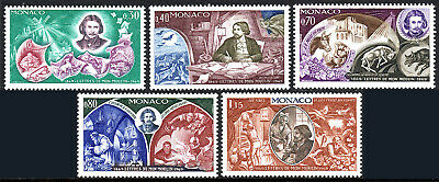 Monaco 743-747, MNH. Letters From My Windmill , By Alphonse Daudet, 1969 - $1.65