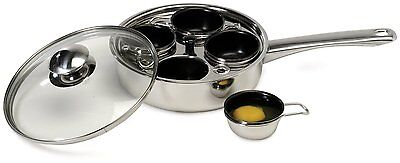 18/10 Stainless Steel 4 Non Stick Egg Poacher Free Expedited Shipping cookware