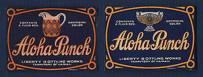 Hawaii vintage Aloha Punch soda label New Old Stock NOS