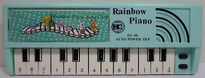 HC VTG 80's MINI LIGHT BLUE 8'' RAINBOW PIANO HC-06 TAIWAN M
