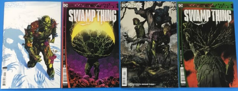 4x SWAMP THING comic # 1 A B VARIANT 2 A B 1st Appearance ~ FUTURE STATE 2021 DC