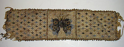 ANTIQUE BEAD WORK WRISTBAND WITH BUTTERFLY
