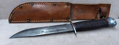 Vtg WWII Remington PAL RH 36 Fighting / Hunting - Fixed Blade Knife W/Sheath