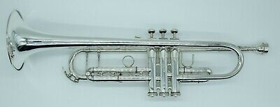 KING 1117 - Marching Trumpet - SILVER PLATE - With -