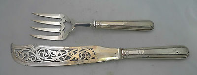 Victorian Silver Handled Fish Servers Aaron Hadfield Sheffield