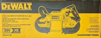 DEWALT DCS374B 20V MAX XR Cordless Li-Ion Cordless Deep Cut Band Saw Tool Only