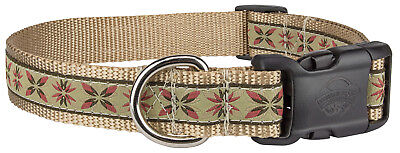 Deluxe Antique Flowers Woven Ribbon Dog Collar Limited Edition Woven Ribbon Collar