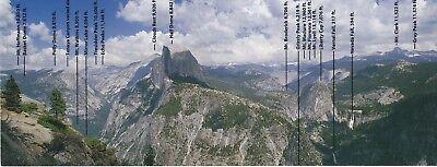Yosemite National Park Half Dome Glacier Point Geo Modern Post Card 4X10   New