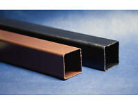 Square downpipe, brown & black 4m & 5.5m, 34 lengths in total, Polypipe, stock clearance, unused