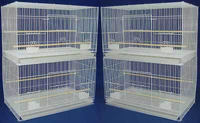 New Lot of 4 Large Aviary Breeding Bird Cage 30x18x18- 2474 White-531