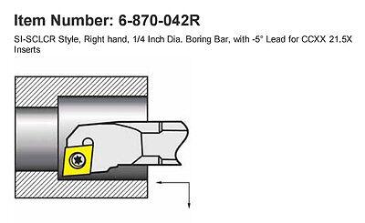 516 Rh Boring Bar For Cc21.5 Inserts .354minimum Bore 4oal Si-sclcr 4-2