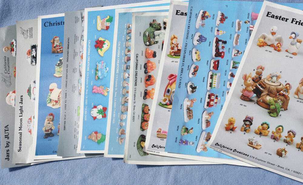 California Creations 10 Piece Color Flyers with item numbers for collectors