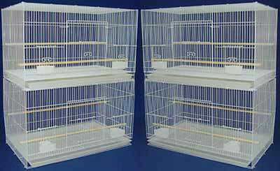 New Lot of 4 Large Aviary Breeding Bird Breeding Cages 30x18x18 - #402 White-357