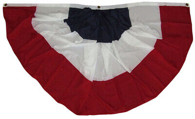 (6 Pack) USA American Stripes 3'x6' Super Poly Sheeting Fan Flag Banner Bunting