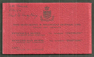 RARE Hong Kong 4 panorama photo booklet China 1953