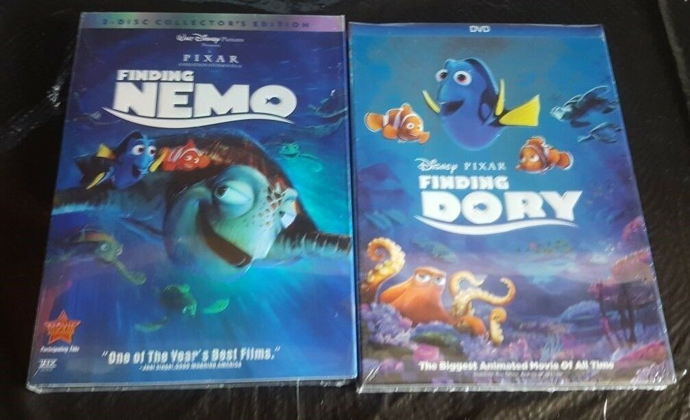 Finding Nemo and Dory DVD 2-Disc Set Disney Movies Brand New