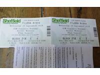 2 x Arctic Monkeys Sheffield gig tickets 19th September