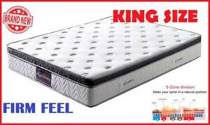 KING Size LUXURY Latex Top POCKET SPRING Mattress DELIVERED FREE New Farm Brisbane North East Preview