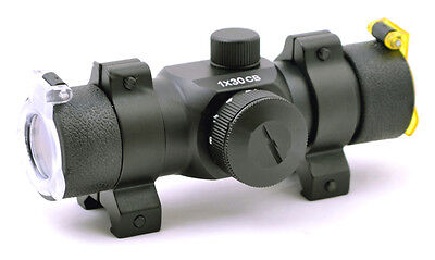 Hammers Reflex 3 Dot Crossbow Red Dot Sight 1x30cb With Weaver Rings