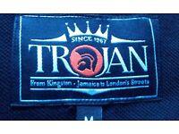 1 x Black / Orange / White Medium 'Trojan Records' Polo Shirt *£25.00