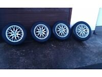 "BMW BBS 16"" alloy wheels and tyres."